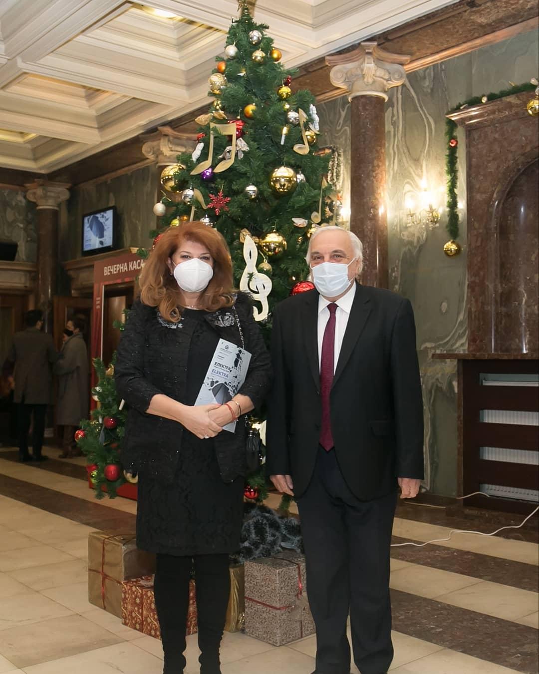 Photo: Илияна Йотова - Вицепрезидент на Р. България и Пламен Карталов - Директор на Софийската опера