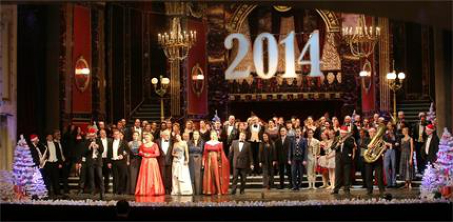 Наздравица за 2014-а в Операта - 03.01.2014,в.Труд
