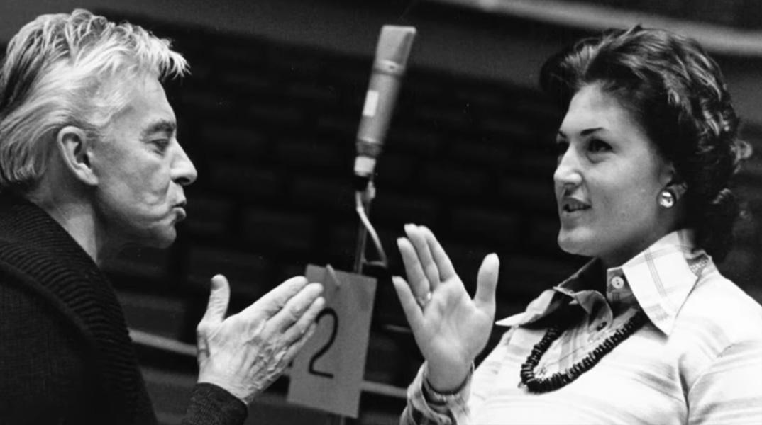 Никога не съм смеела да мечтая да срещна Караян, камо ли да пея за него
